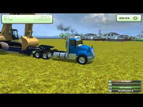 Let's Play - Farming Simulator 2013 EP1PT2 Hauling American Equipment