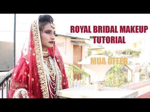 Royal Bridal Look Makeup Tutorial | MUA | Highend Products | SahiJeeth