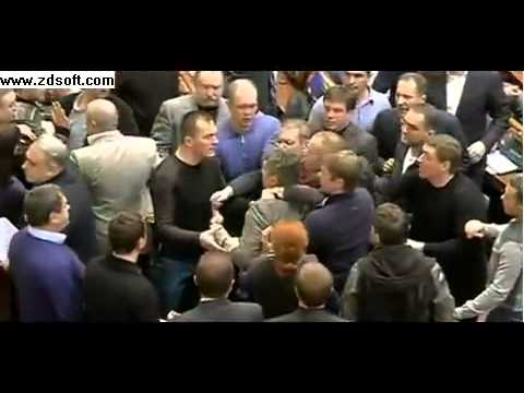 MPs scuffle as Kiev clashes continue