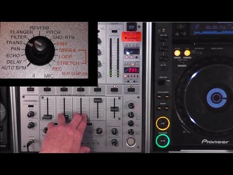 Learning to Use the Effects (FX) on a Pioneer DJM-600 Mixer