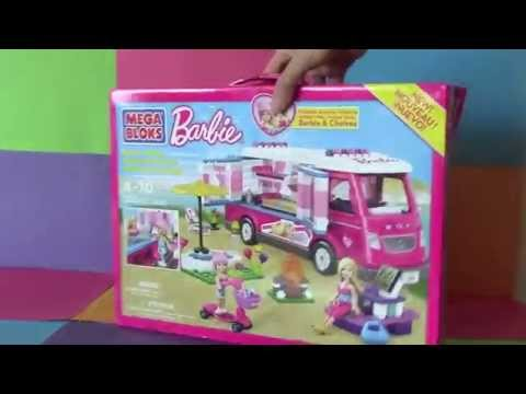 Mega Bloks Barbie Fashion Boutique Barbie Doll House Like Lego Mega bloks barbie unboxing