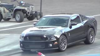 Ford Mustang GT500 Vs Corvette Drag Race