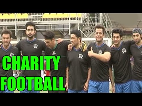 OMG! Bollywood Stars and Telly World Actors SEEN Playing Football for Charity | MUST WATCH