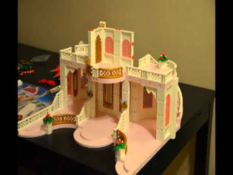 montage d 39 un chateau princesse playmobile youtube