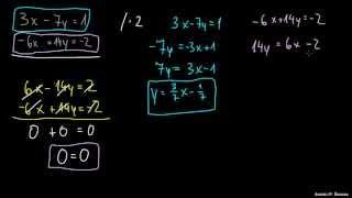 Posebeni primeri sistemov enačb