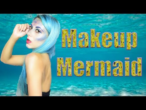 Макияж русалки /Mermaid makeup tutorial/HALLOWEEN
