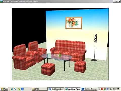 Video học 3D MAX  Bài 11 - Tô màu Salon