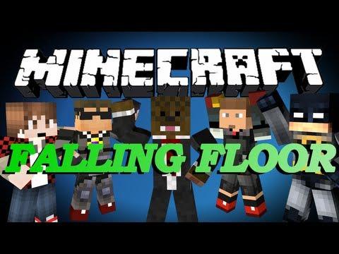 Minecraft FALLING FLOOR Minigame w/ SkyDoesMinecraft, BajanCanadian