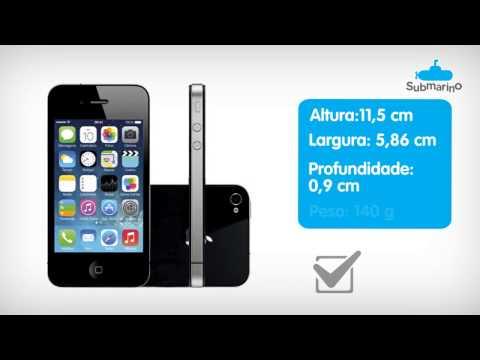 Iphone 4S Preto 8GB Apple | Submarino.com.br