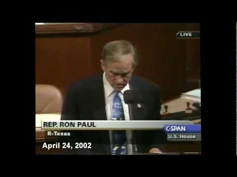 Ron Paul's 2002 Predictions All Come True - Incredible Video!