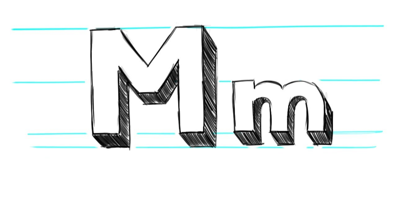 How to write letter m