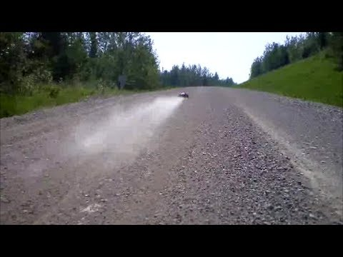 EAT MY DUST: RC RACE TRUCK 6 MILEs & 2 CAMERAs DIRT ROAD CHASE