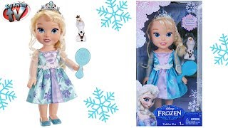 Disney Frozen: Toddler Elsa Large Doll Toy Review, Jakks