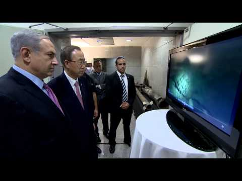 PM Netanyahu presents to UN Secretary General Ban Ki-moon Rockets and operating methods of Hamas