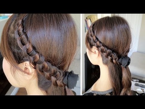Chinese Staircase Knotted Headband for Long Hair Tutorial