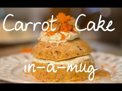 Carrot Cake in a Mug | Cheap Clean Eats