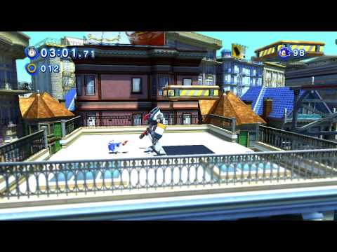 classic sonic in modern city escape classic sonic in