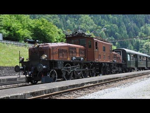 Krokodil am Gotthard Sommer 2013 - Zug,trainfart,train