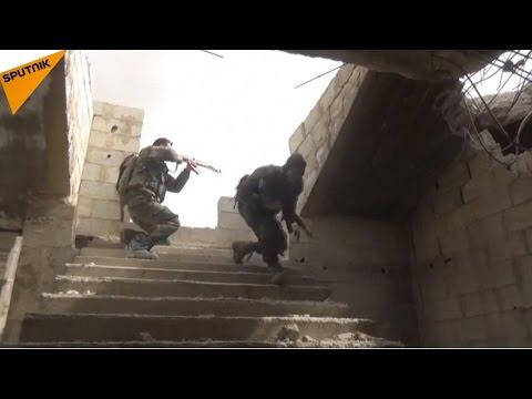 شاهد... الجيش السوري يسحق الإرهابيين بالغوطة ...