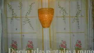 CORTINAS PINTADAS A MANO
