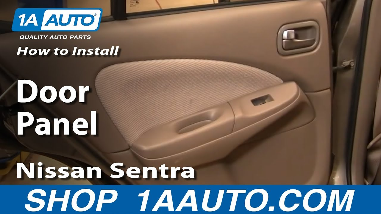 How to install replace remove rear door panel nissan for 03 nissan altima door handle replacement