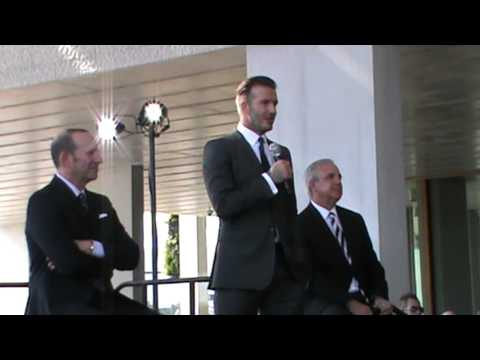 David Beckham brings MLS soccer to Miami (Full announcement) Part 3