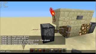Redstone Tutorial : How To Make Glowstone Lights That Turn