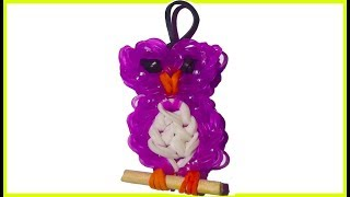 Owl Charm With Two Forks Without Rainbow Loom Tutorial