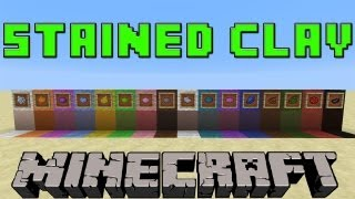 How To Make Stained/Colored Clay In Minecraft 1.7.9