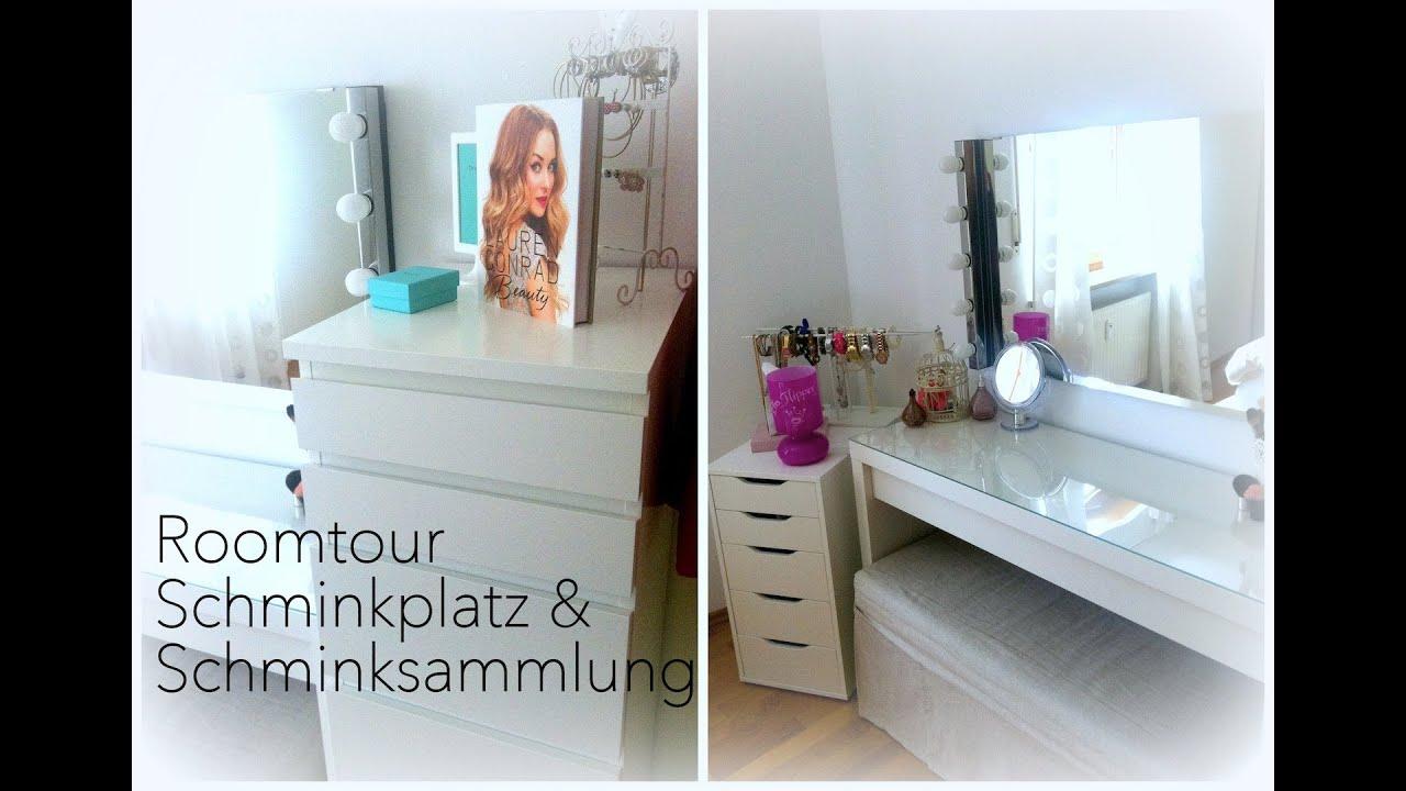 Roomtour ♡ Schminkplatz & Schminksammlung - YouTube