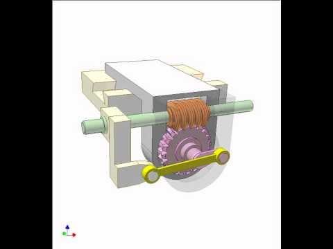Worm drive and linkage mechanism 1