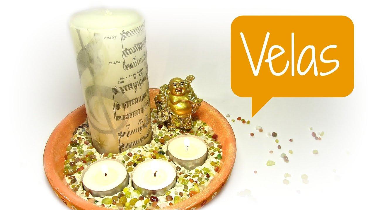 Tutorial decoraci n con velas decorating with candles - Decoracion con velas ...