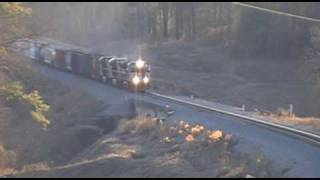 Norfolk Southern NS 154 Freight Train at Suwanee, GA