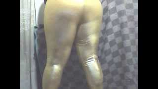 Gold Spandex Shiny Leggings Leggins Tight Booty Panty
