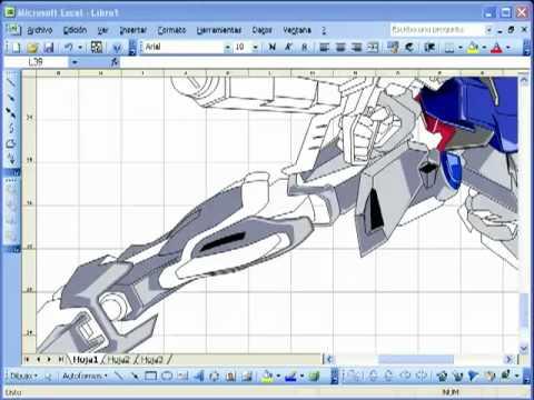 Vẽ trên Excel - vo doi.flv