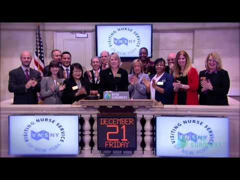 Visiting Nurse of New York Visits the NYSE rings the NYSE Closing Bell