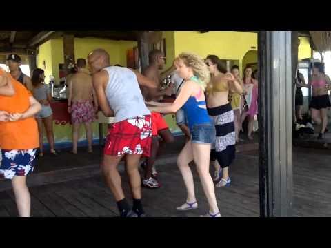 Salsa cubana social dance at the beach bar - afrocuban salsa festival 2014