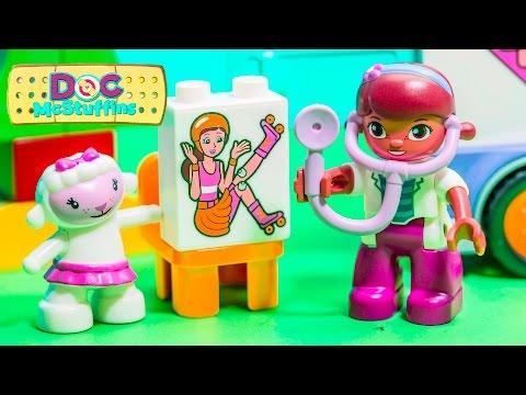 DOC MCSTUFFINS Disney Junior Lego Duplo Doc McStuffins with Rosie the Ambulance Toy