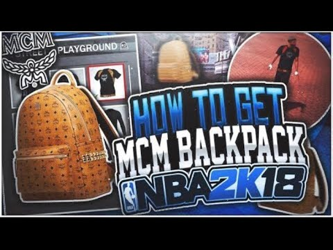 HOW TO GET MCM BELT AND BACKPACK ON NBA 2K18!! 😱BEST WAY TO LOOK DRIPPY AT THE PARK🤑