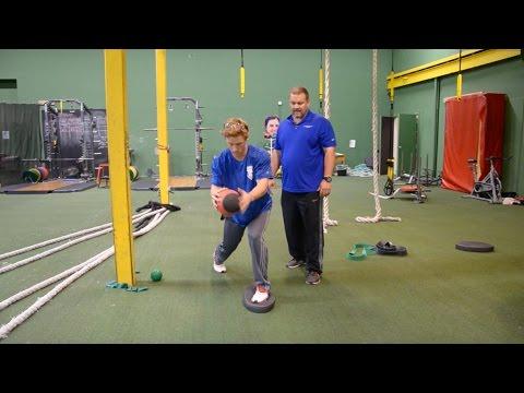 Balanced Medicine Ball Slams - Baseball Injury Prevention Exercise