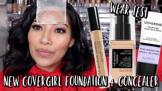 NEW COVERGIRL FULL SPECTRUM MATTE AMBITION ALL DAY FOUNDATION & CONCEALER WEAR TEST