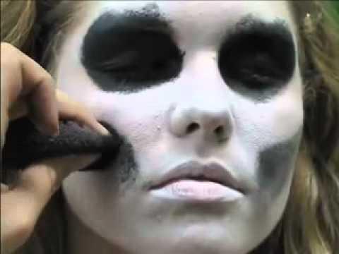 skeleton face paint easy 5 min tutorial  youtube