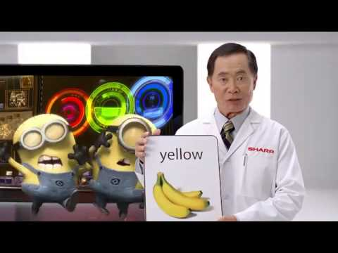 Sharp AQUOS Quattron™ 3D TV   George Takei