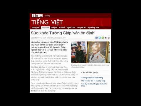 25-08-2011 - BBC Vietnamese - Sức khỏe Tướng Giáp 'vẫn ổn định'