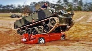 [Driving Tanks and Crushing Cars] Video