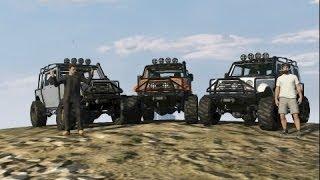 GTA 5 ONLINE Merryweather Jeeps (Crawling,Mudding)