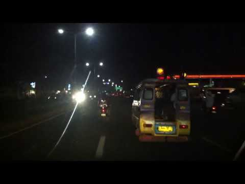 Cebu and East side of Mandaue bridge by night after Yolanda typhoon - Nov 9th 2013