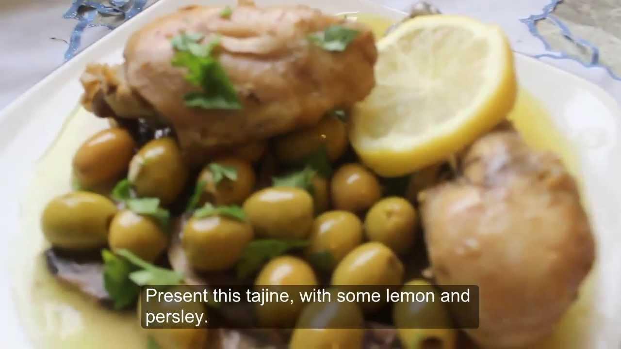 Poulet a la chermola tajine de poulet roti aux olives cuisine algerienne youtube - Google cuisine algerienne ...