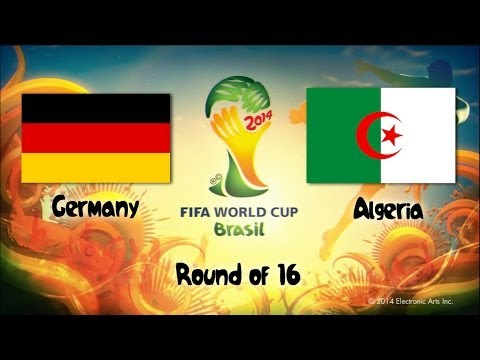 6 Germany vs Algeria | Round of 16 | 2014 World Cup Match Sims