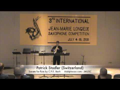 3rd JMLISC: Patrick Stadler (Switzerland) Sonate for flute by C.P.E. Bach